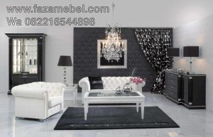 Sofa Tamu Mewah Luxury White