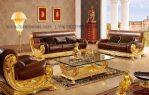 Sofa Tamu Mewah Italian Gold