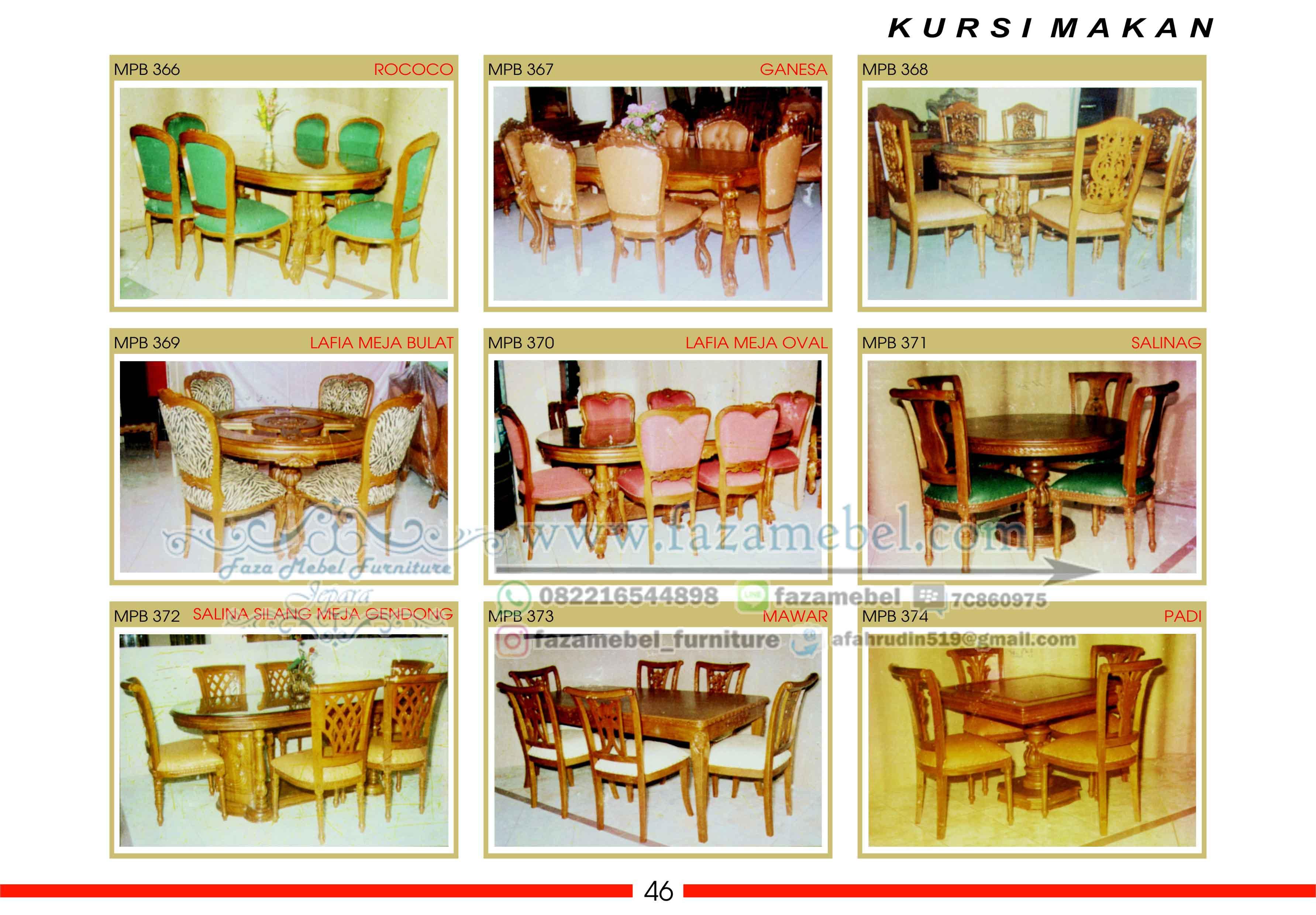 set-meja-makan-jati