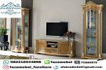 Jati Jepara Bufet Tv Mewah Terbaru