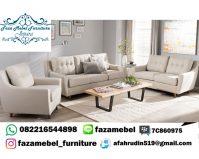 Set Kursi Sofa Mewah Minimalis Jobi Kotak