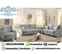 Set Sofa Mewah Minimalis Abu Abu