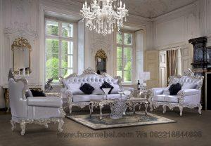 Set Kursi Tamu Luxury Silver
