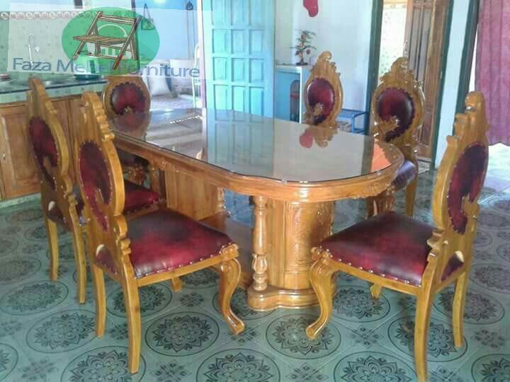 kursi-makan-ukir daun-meja-mewah
