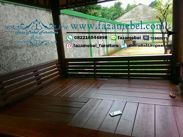 gazebo-kayu jati minimalis-berkualitas-mewah-unik-elegan