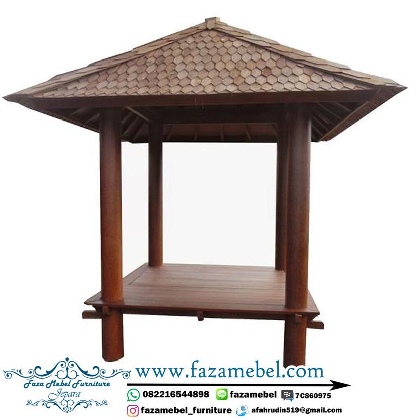 gazebo kayu kelapa yogyakarta