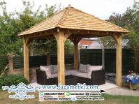 Rangka Gazebo Kayu