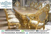 Set Kursi Meja Makan Mewah Gold