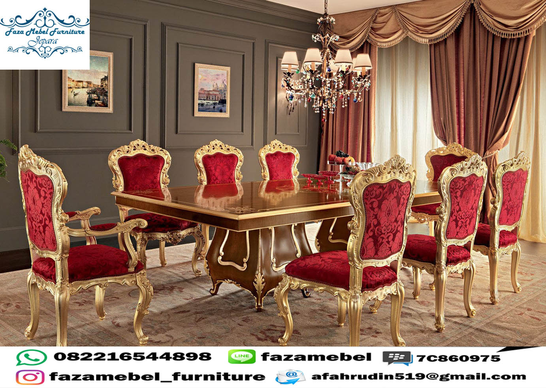 Set Meja Kursi Makan Mewah Istana Presiden