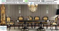 Set Meja Makan Mewah Klasik Eropa