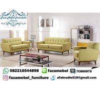 Furniture Jepara Set Sofa Ruang Tamu Minimalis Mewah Terbaru
