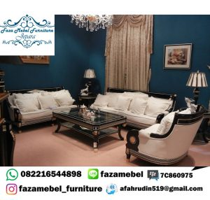 Kursi Tamu Minimalis Mewah Swarovski Luxury Italian Sofa Set Terbaru