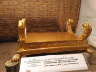 Meja Tamu Jati Mewah Ukiran Emas Gold